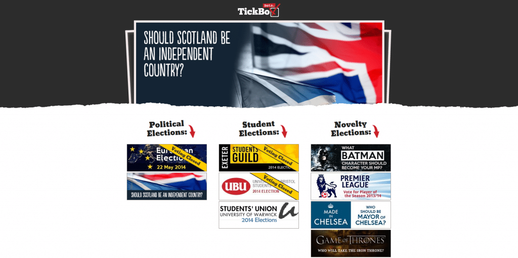 tickbox page