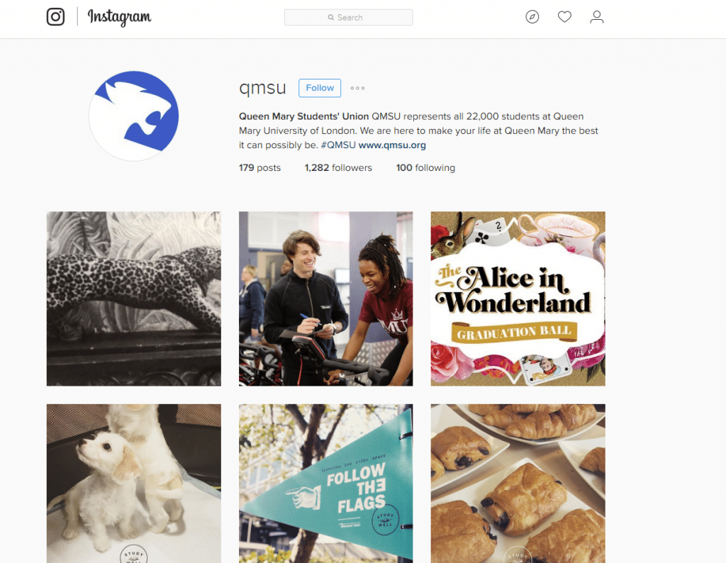 Students' Unions using Instagram | Red Brick Research