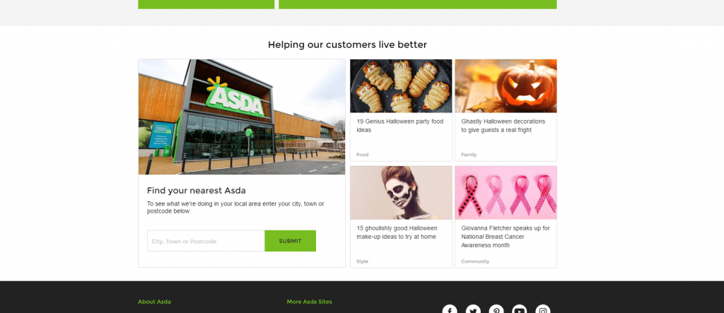 children the wider asda campaign has attempted to reach millennials with detailed relevant content pieces such as the sweetest halloween decoration