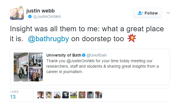 Bath Rugby tweet