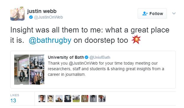 Bath Rugby tweet