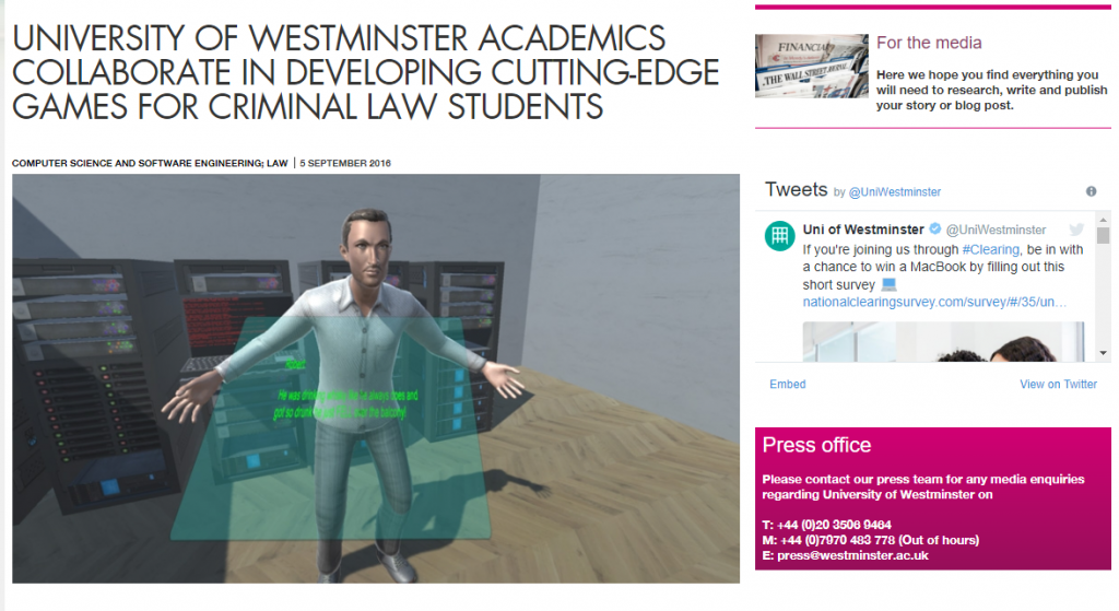 Westminster VR Learning