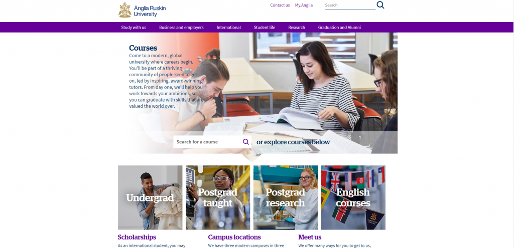Anglia Ruskin University Courses